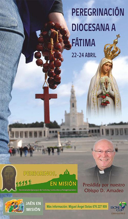 Peregrinación diocesana de Jaén a Fátima 2019 cartel